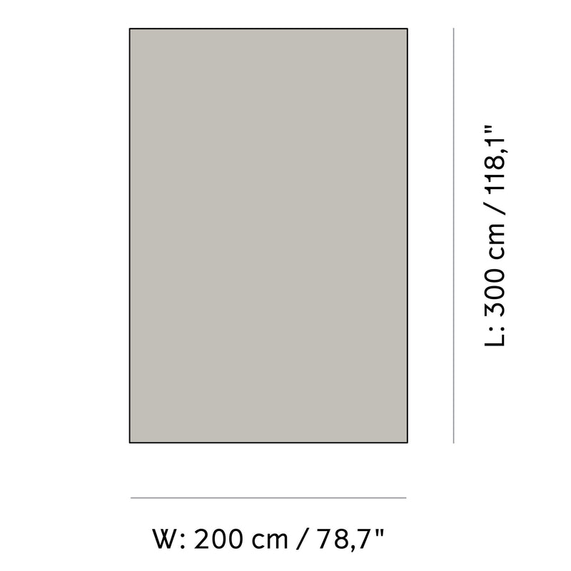 Menu Gravel Rug 200x300cm , Grey