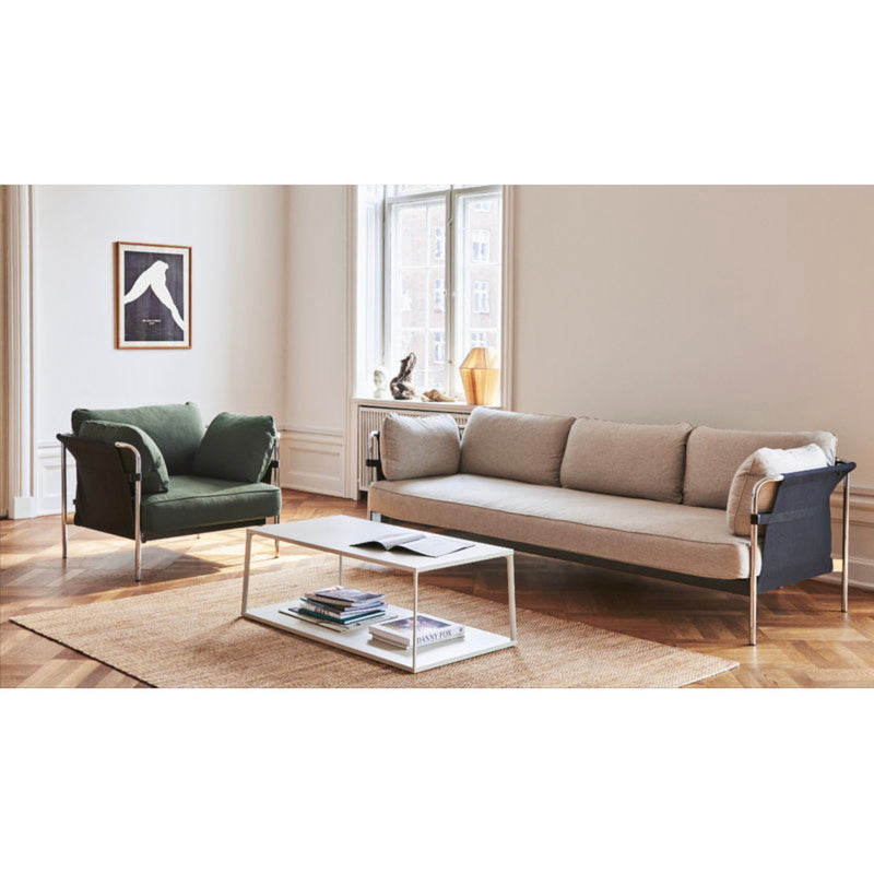 HAY Can 3-Seater Sofa 2.0, chrome - natural - ruskin05