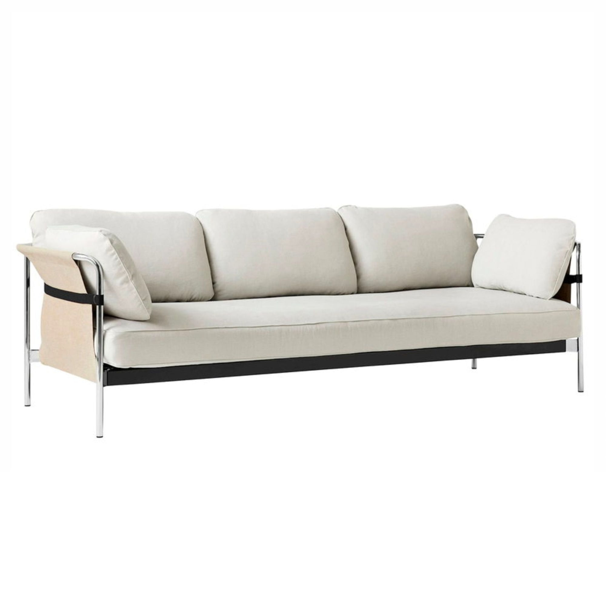 HAY Can 3-Seater Sofa 2.0, chrome - natural - linara331