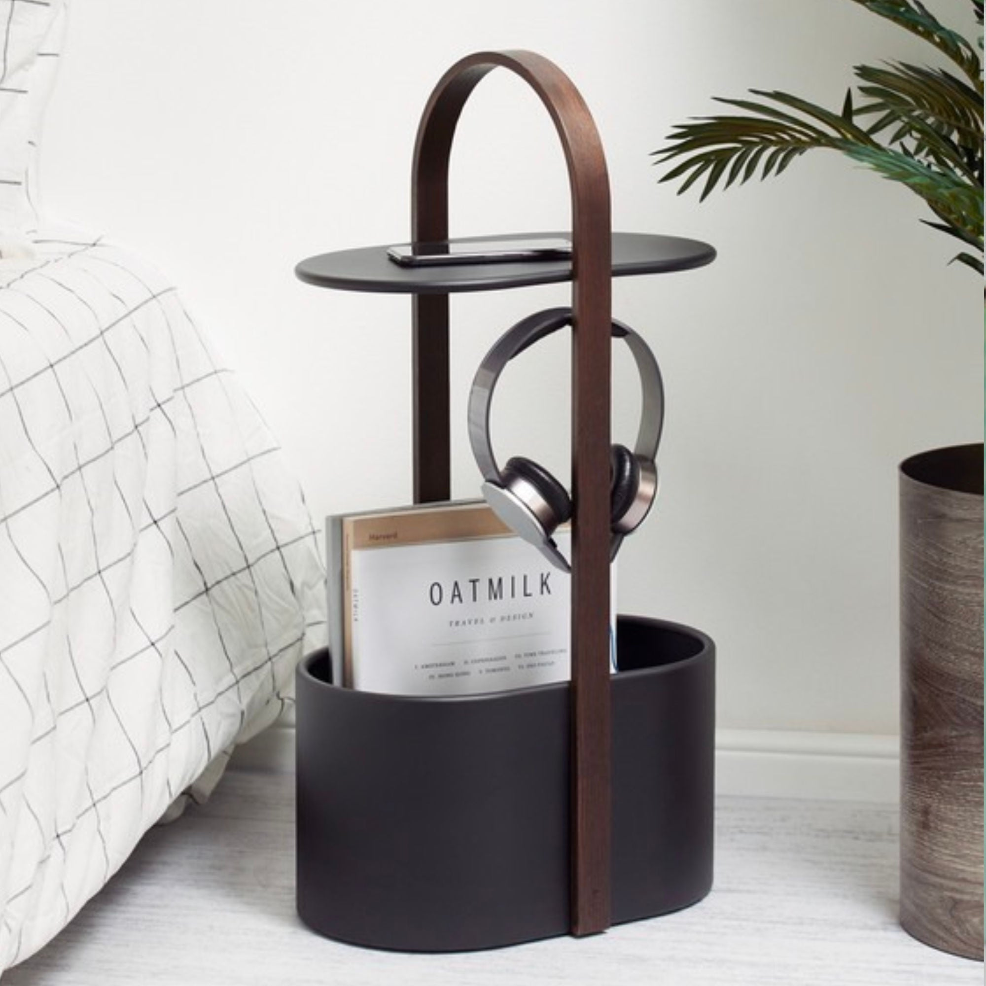 Umbra Hub side table with Storage and Cable Management