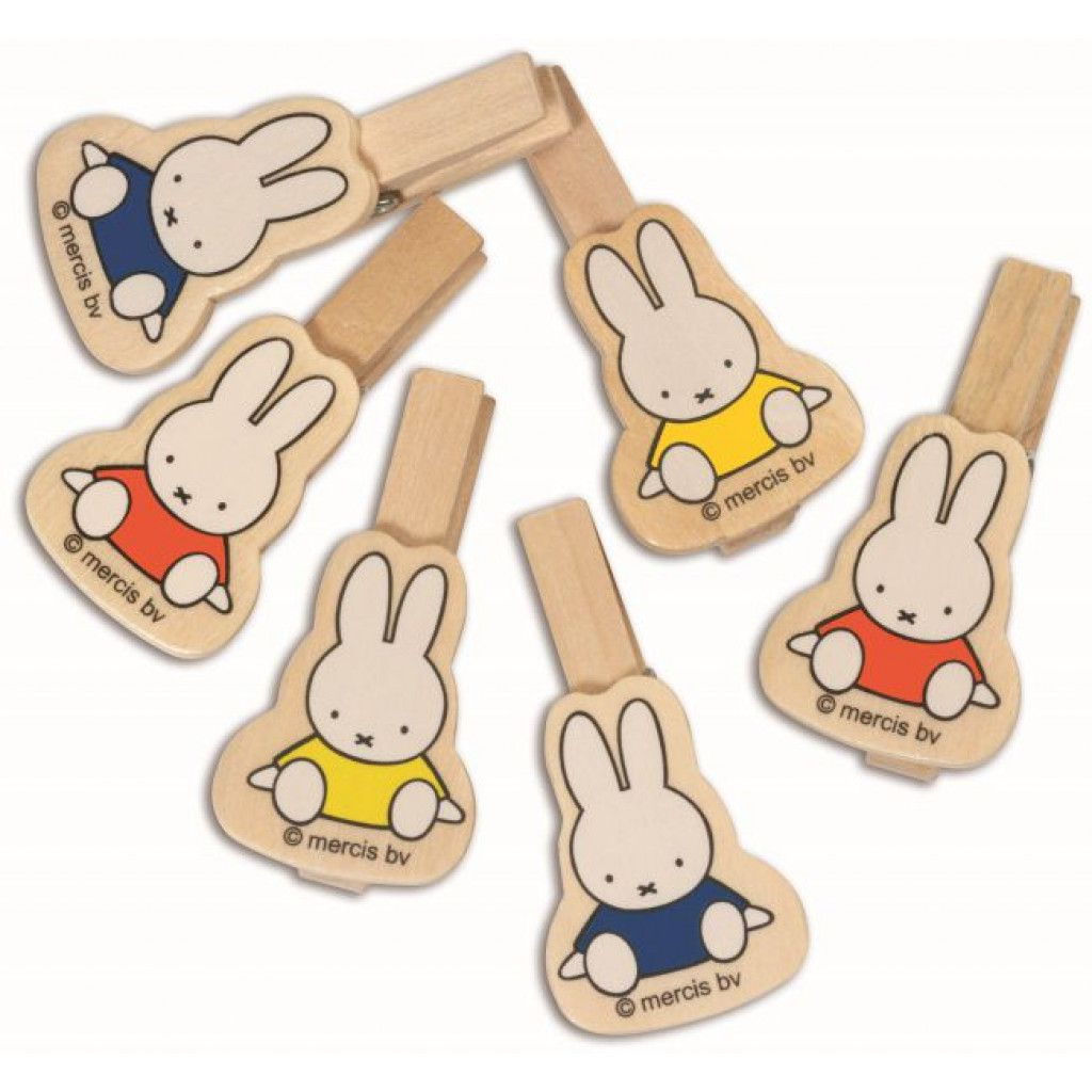 Miffy Wooden Pegs