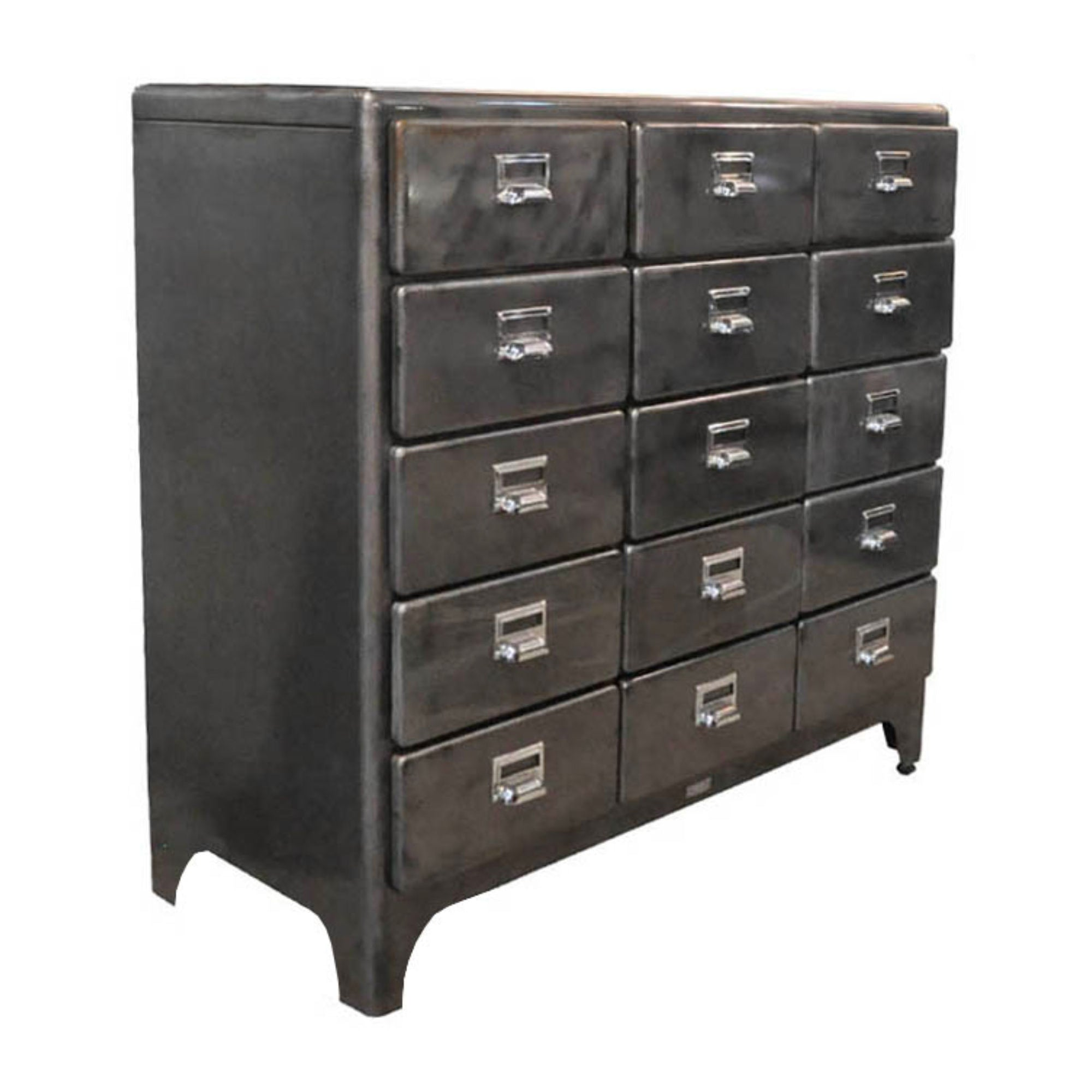 Dulton Cabinet 3 Column by 5 Drawers, raw