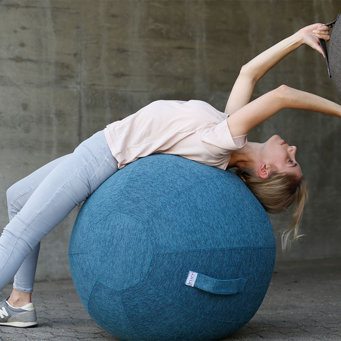STOV Fabric Seat & Yoga Ball . Petrol