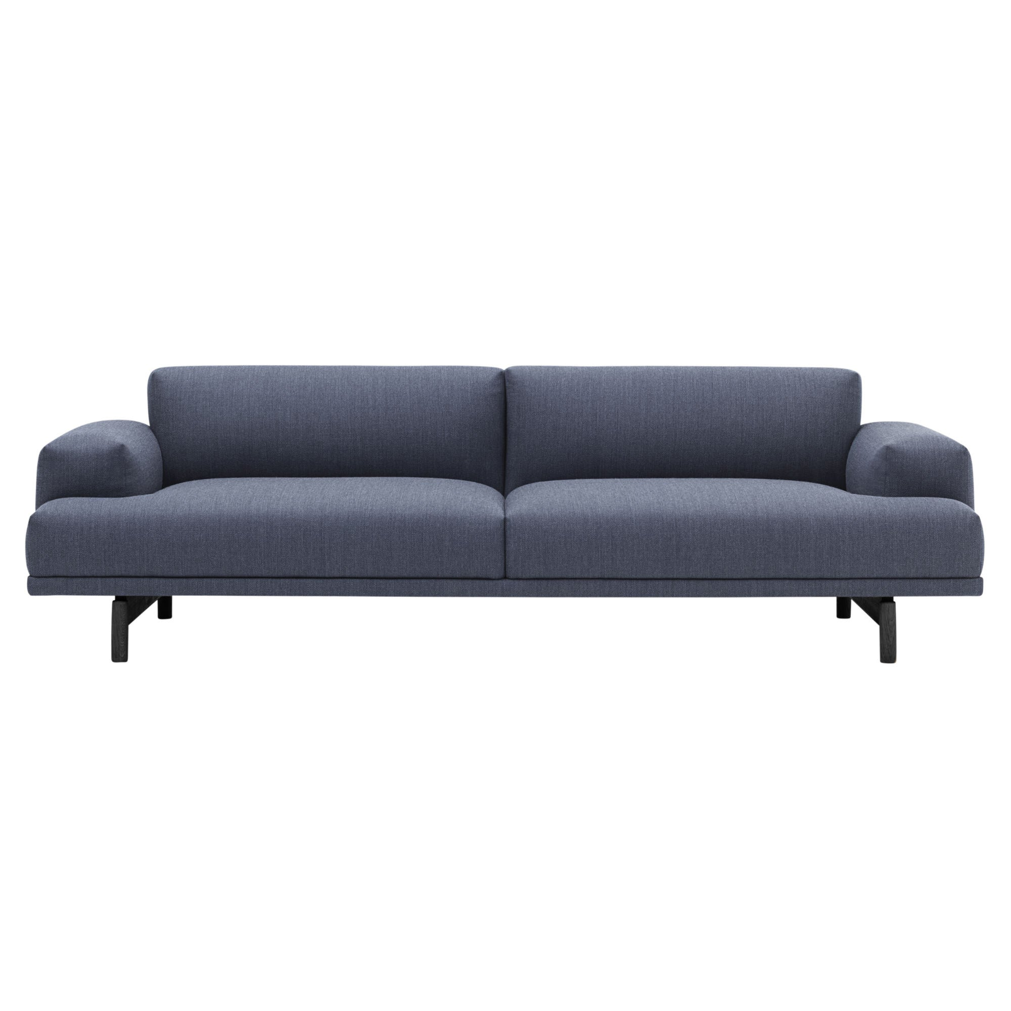 Muuto Compose sofa, 3-seater, fiord 771, black oak legs