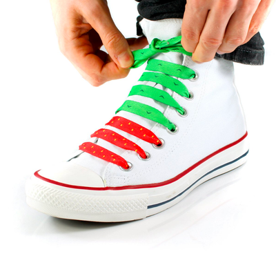 Suck UK Crazy Shoelaces Strawberry