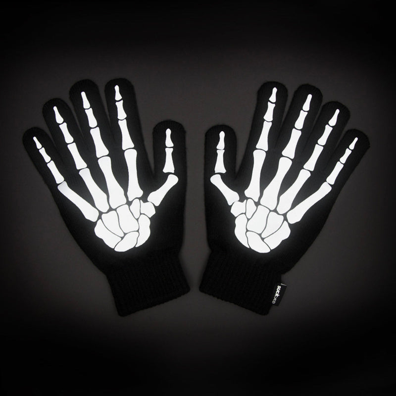 Suck UK Reflective Skeleton Gloves