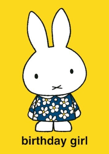 Miffy Birthday Girl Card . 17x12cm
