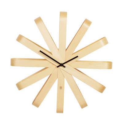 Umbra Ribbon wall clock, beechwood