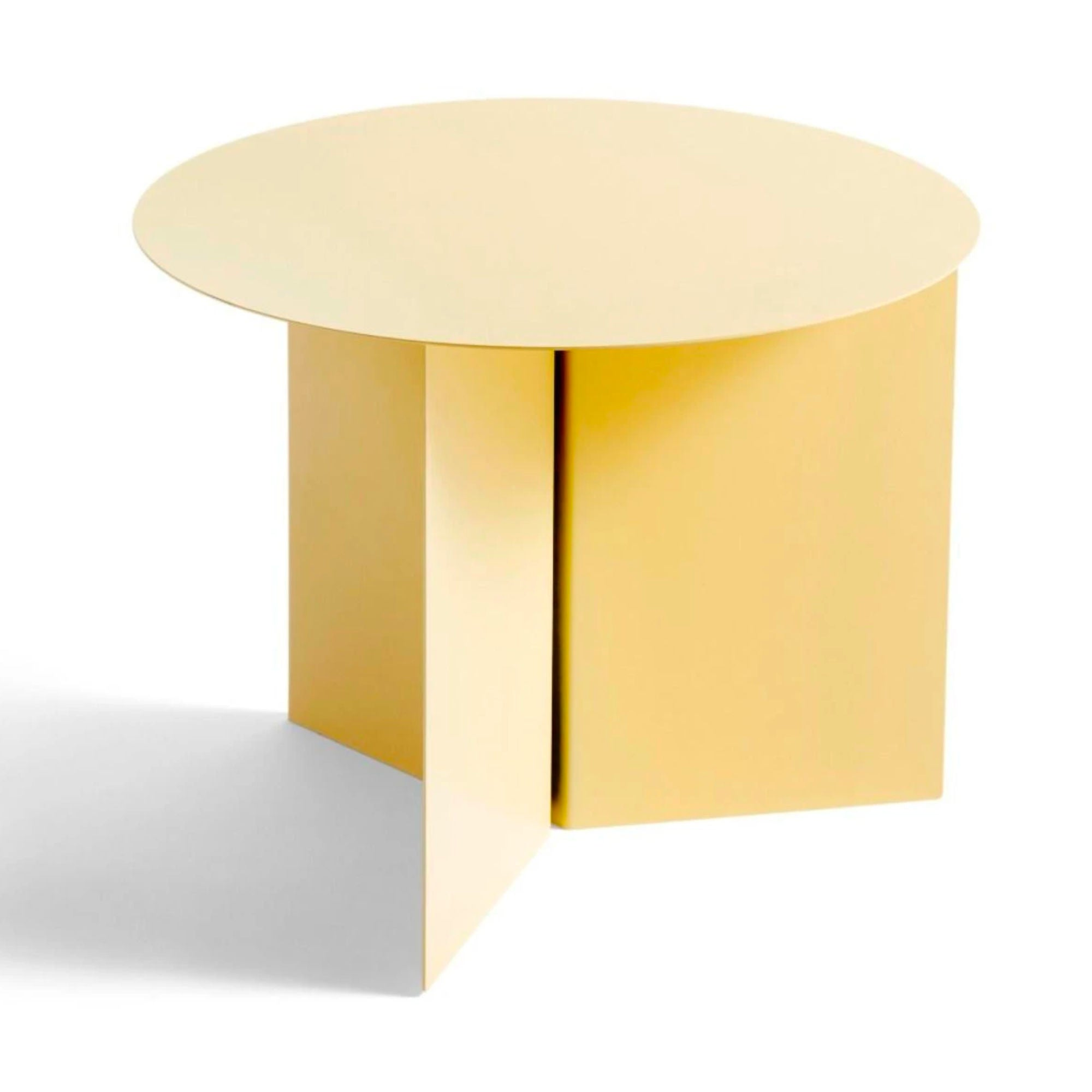 Hay Slit Coffee Table Round Φ45 , Light Yellow