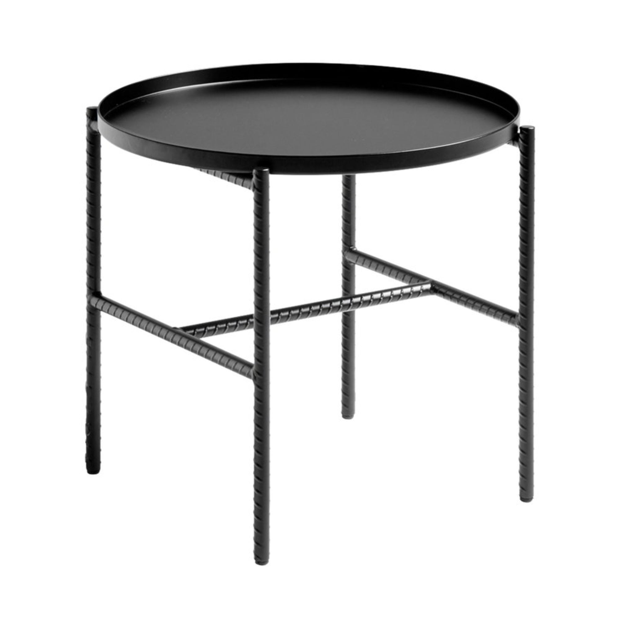 Hay Rebar Round Side Table Φ45 , Soft Black