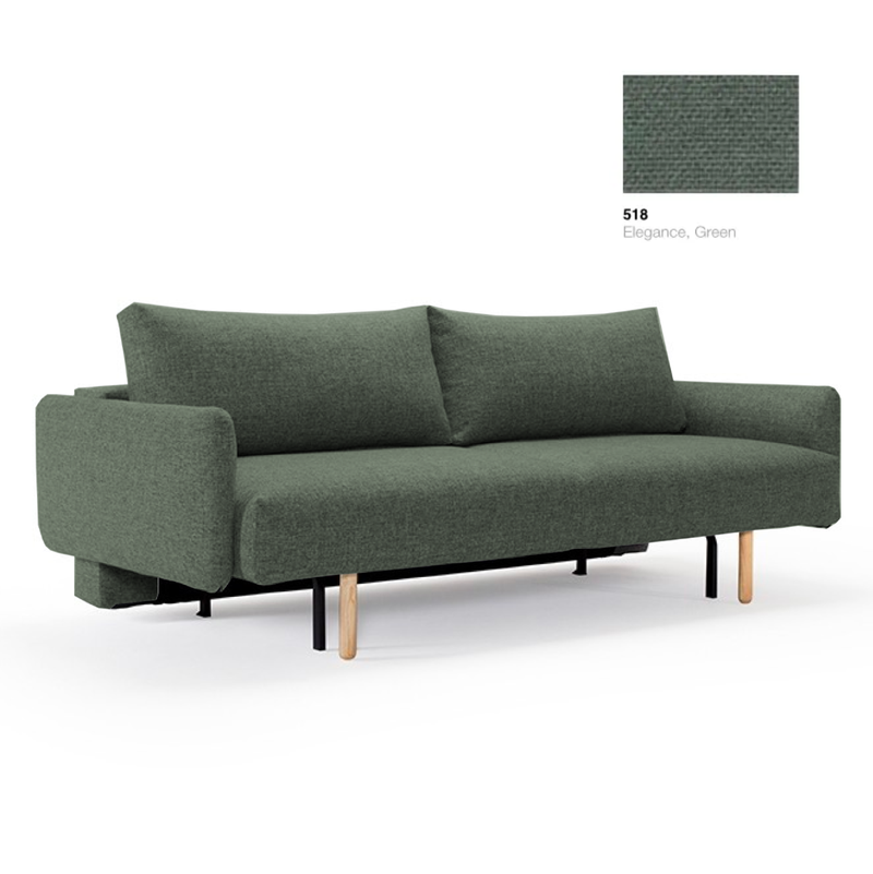 Innovation Living Frode sofabed with arms, 518 elegance green