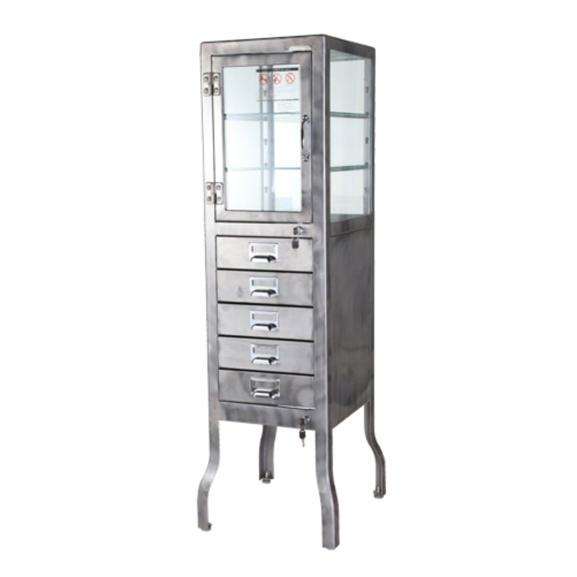 Dulton Dentist cabinet 5 drawers, raw
