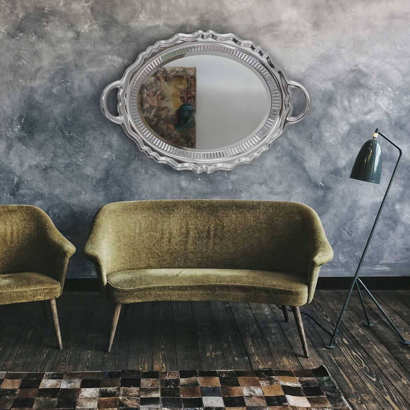 Qeeboo Plateau Miroir Metal Finish