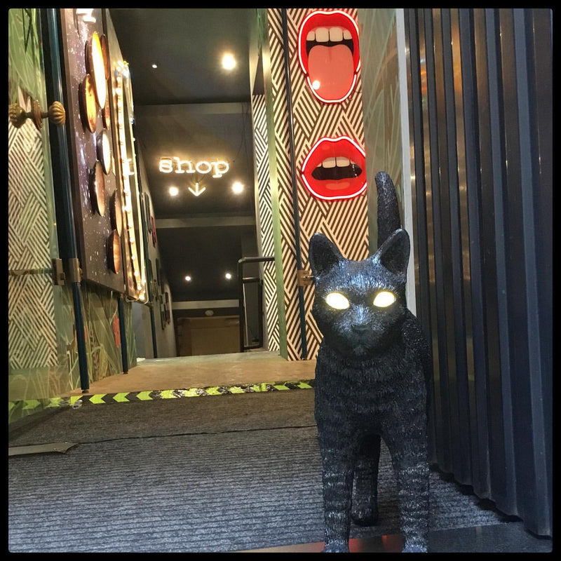 Seletti Jobby The Cat Portable LED Lamp Black Cat