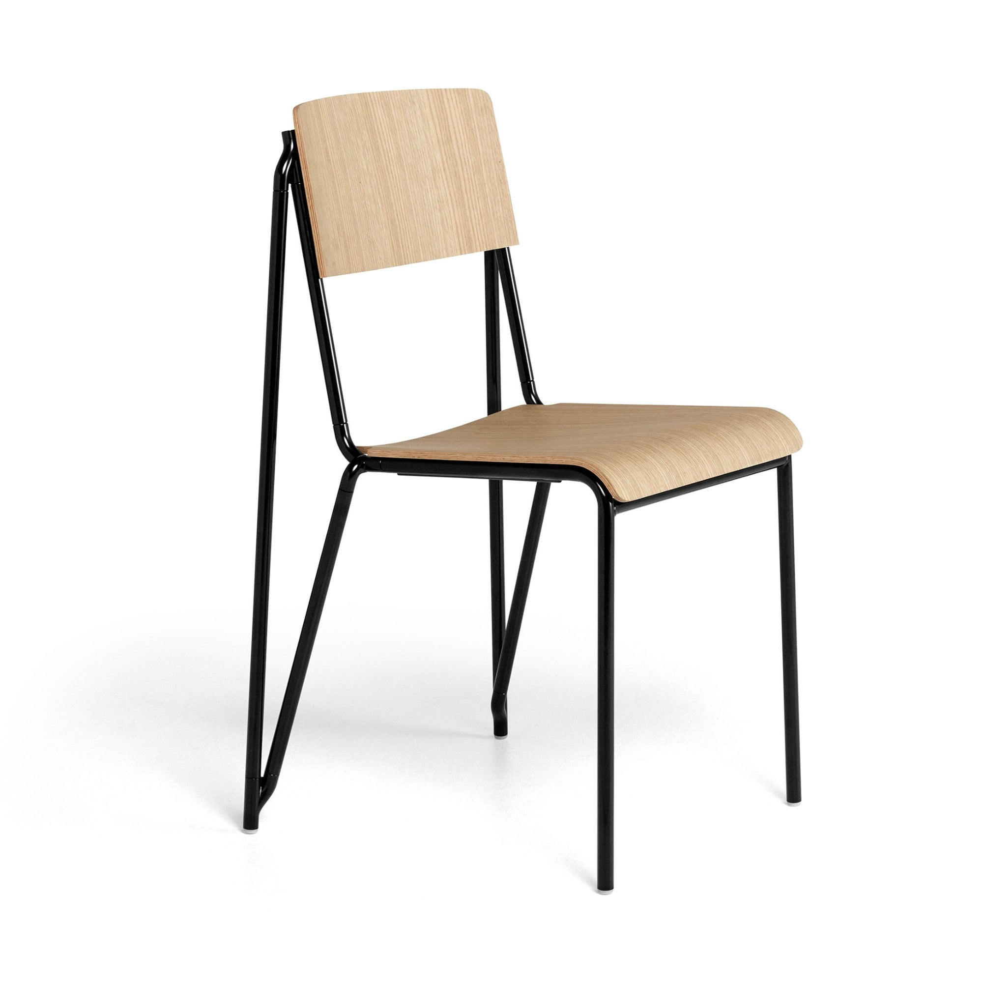 Hay Petit Standard Chair , Black-Matt Oak