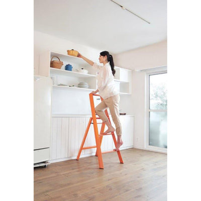 Metaphys Lucano step ladder, 3 steps, white