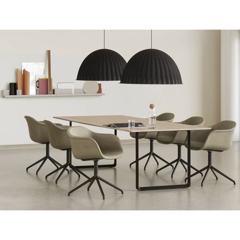 Muuto 70/70 table 295 * 108, oak top, black leg