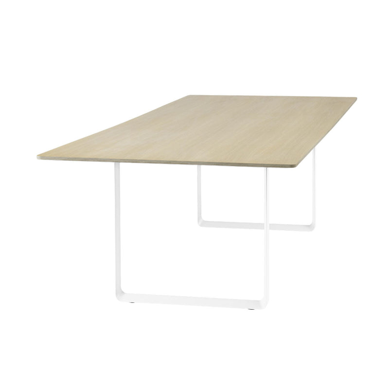 Muuto 70/70 table 225 * 90, oak top, white leg