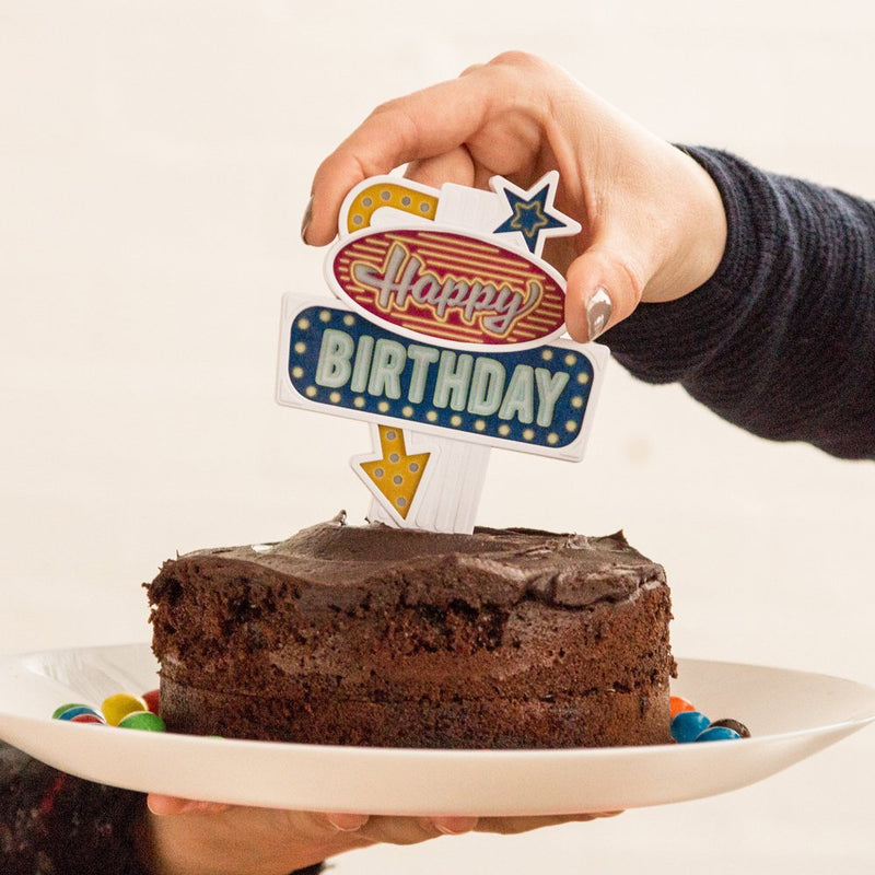 Suck UK Flashing Cake Topper