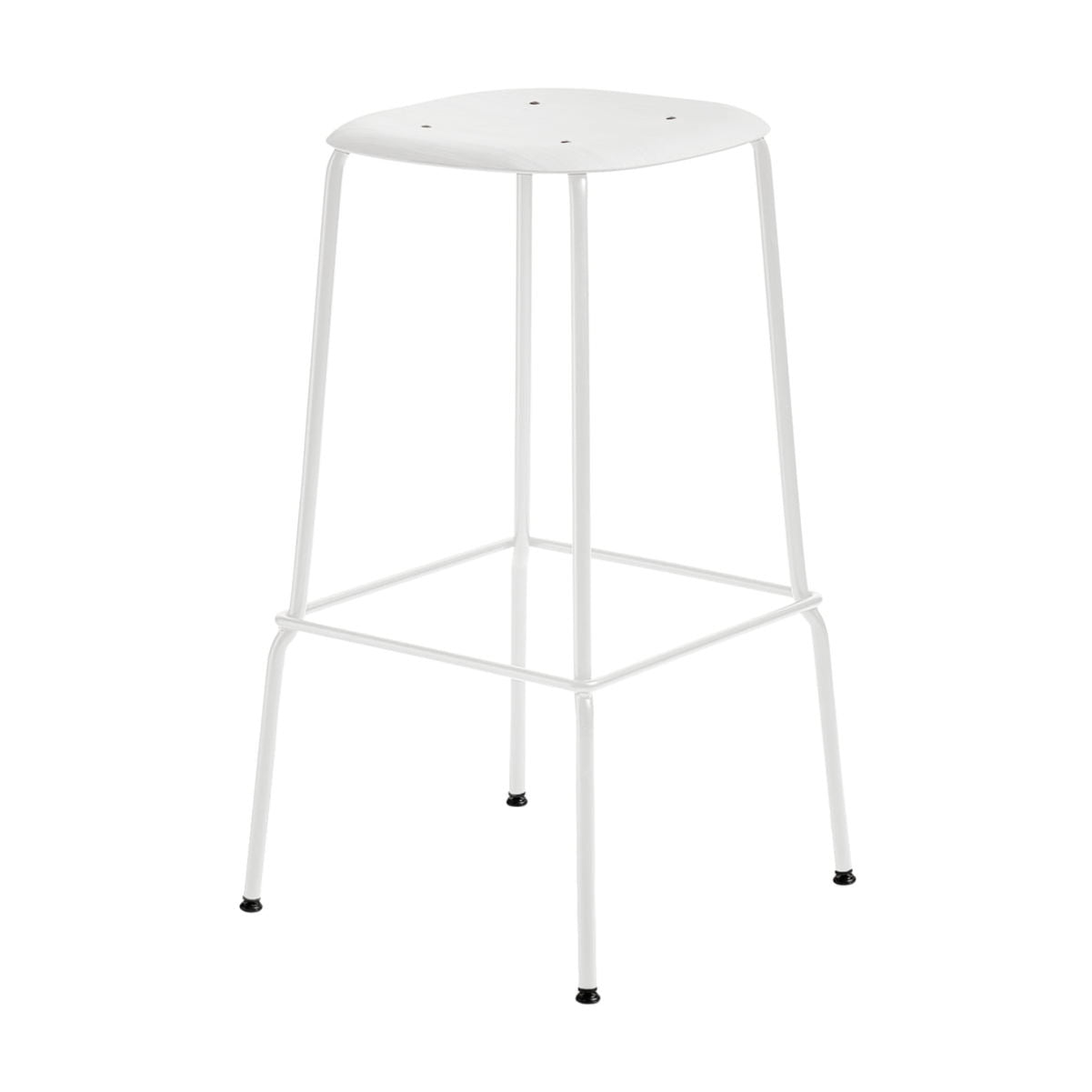 Hay Soft Edge P30 bar stool, white, white