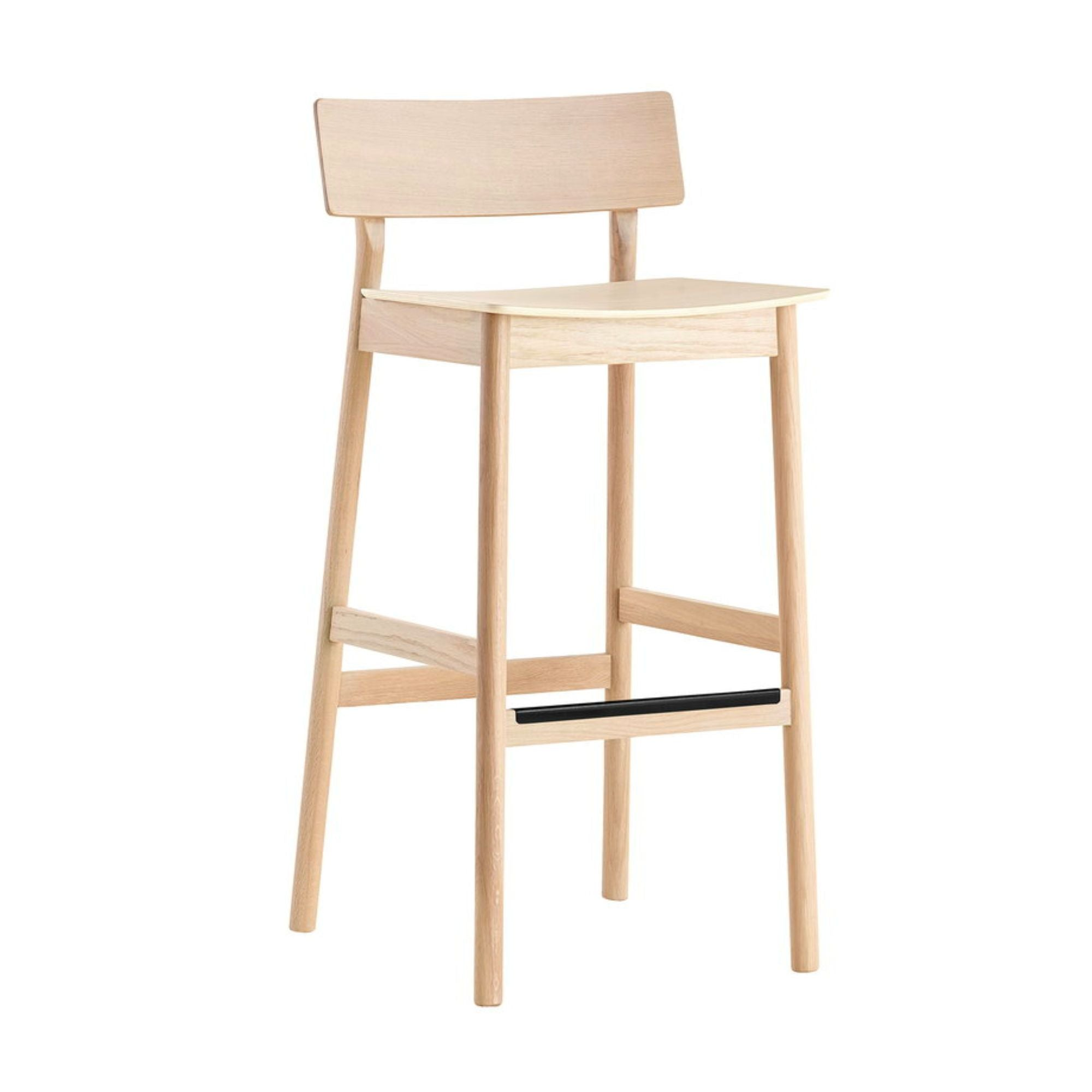 Woud Pause Bar Stool , White Pigmented Oak (75 cm)