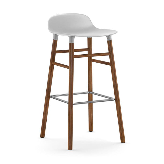 Normann Copenhagen Form Bar Stool 75cm Walnut Legs