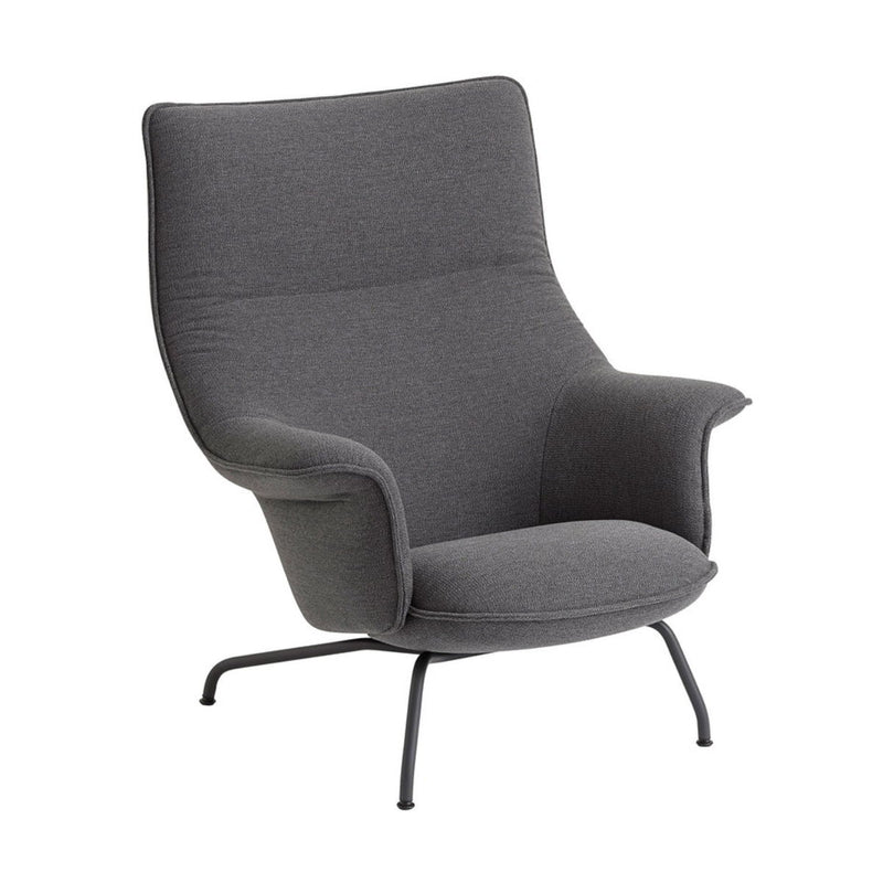 Muuto Doze lounge chair ocean 80 anthracite