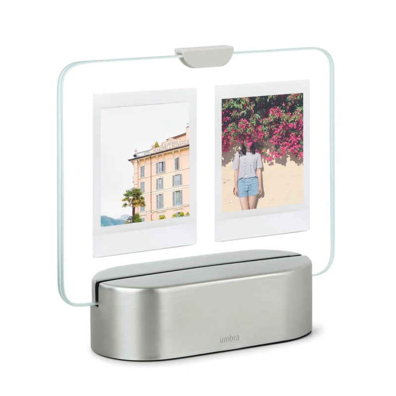 Umbra Glo Instant LED photo display, nickel