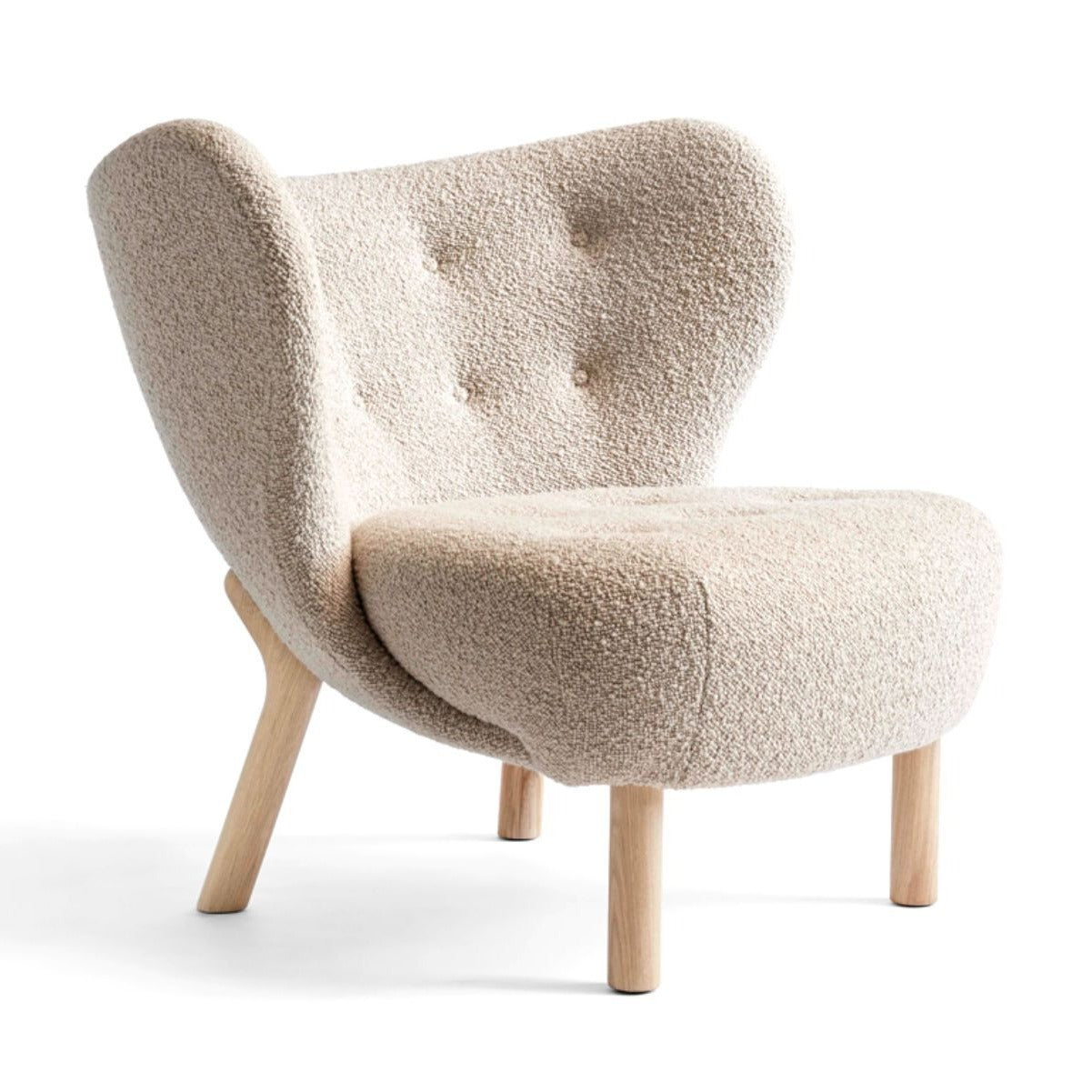 &Tradition VB1 Little Petra Lounge Chair , Karakorum003 - White Oak