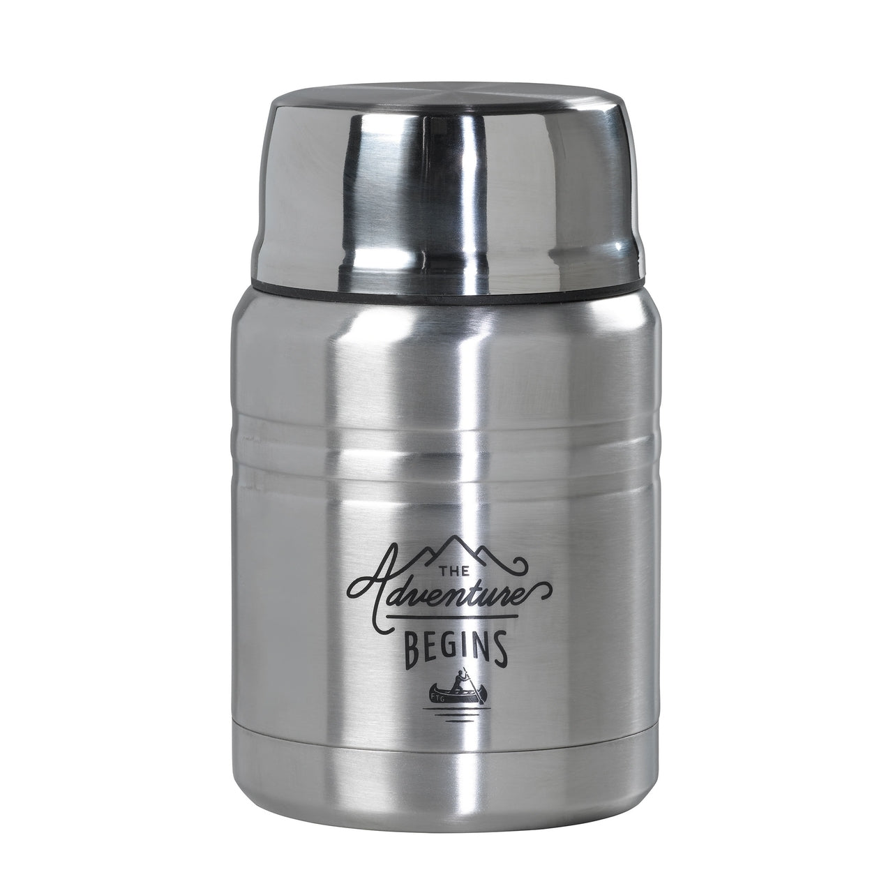 Wild and Wolf Steel Food Flask With Spoon