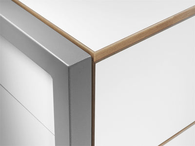 Alwin's Space Box Extendable Table Drawers , White-Beech Laminated Veneer