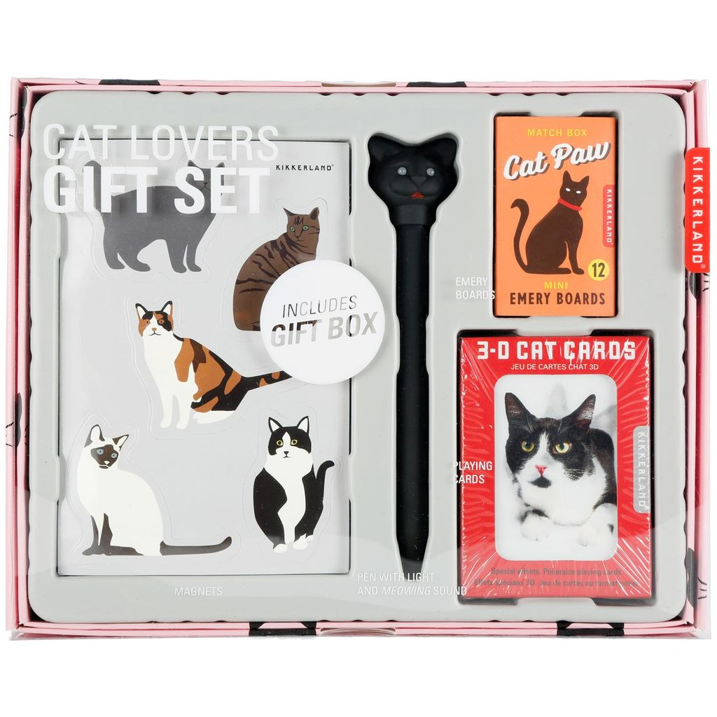 Kikkerland Cats Lover Gift Set