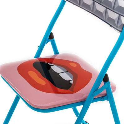 Seletti Studio Job Blow folding chair mouth
