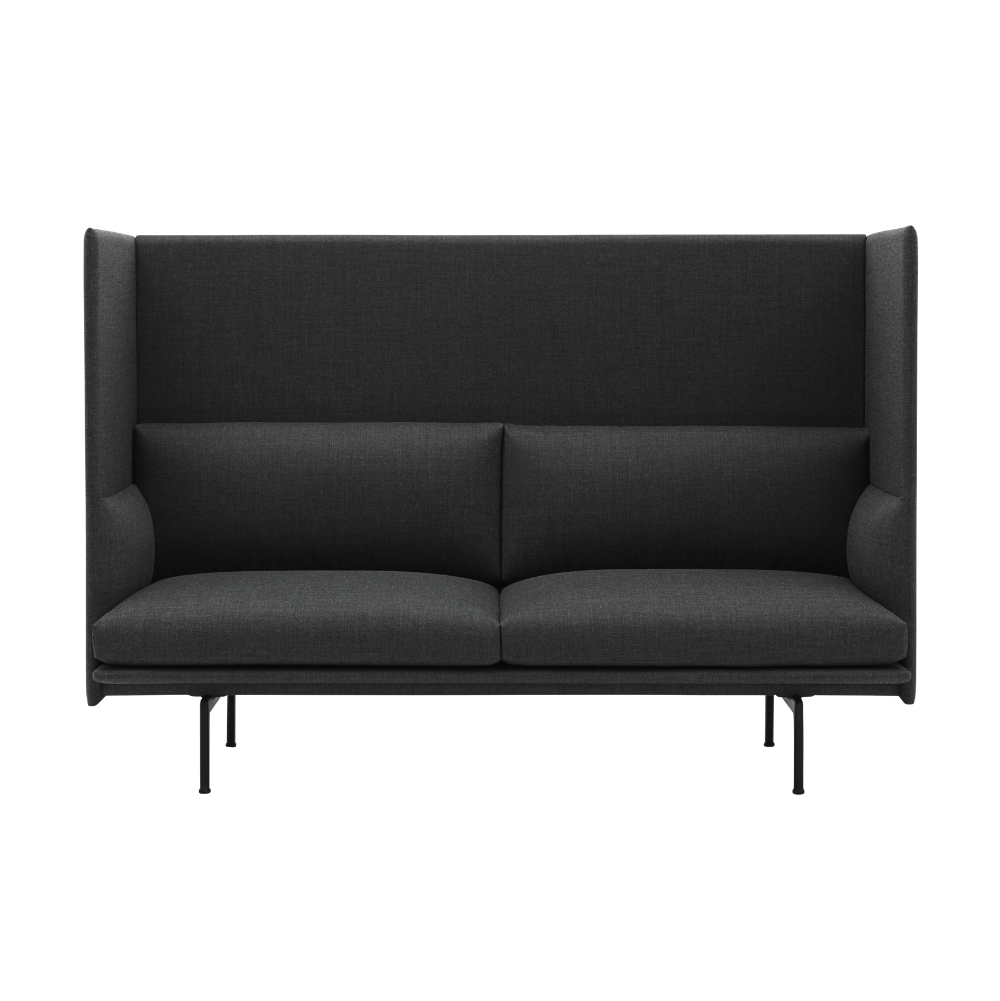 Muuto Outline Sofa Highback Black Base
