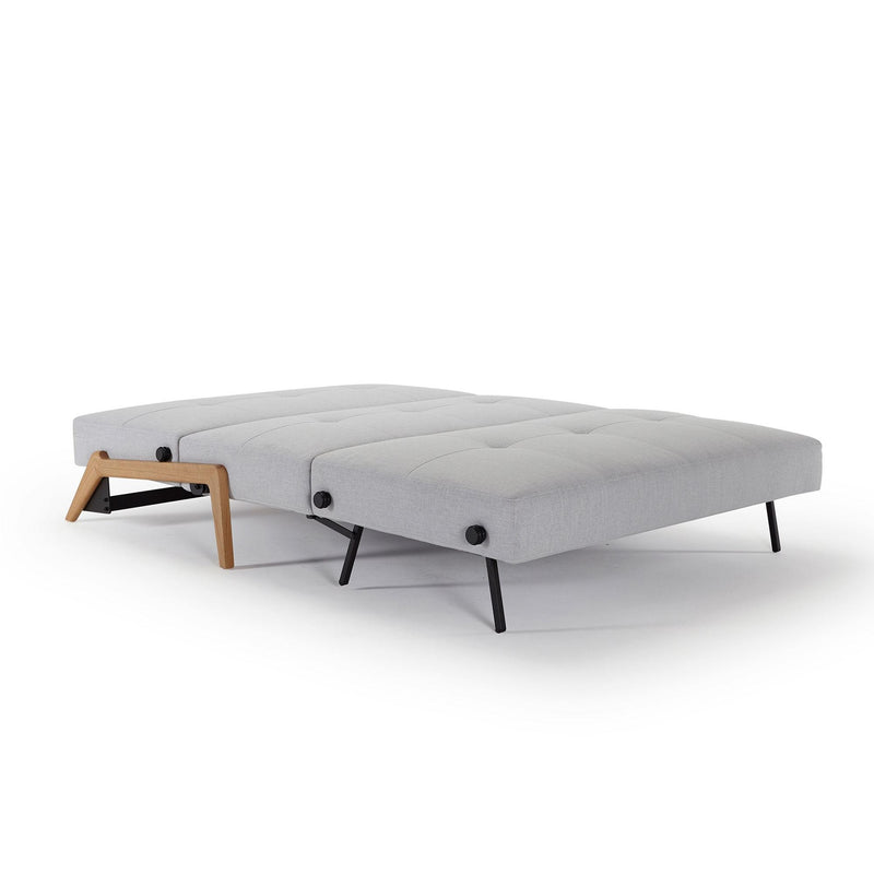 Innovation Living Cubed 140 Wood Sofa Bed, 572 Vivus Dusty Grey