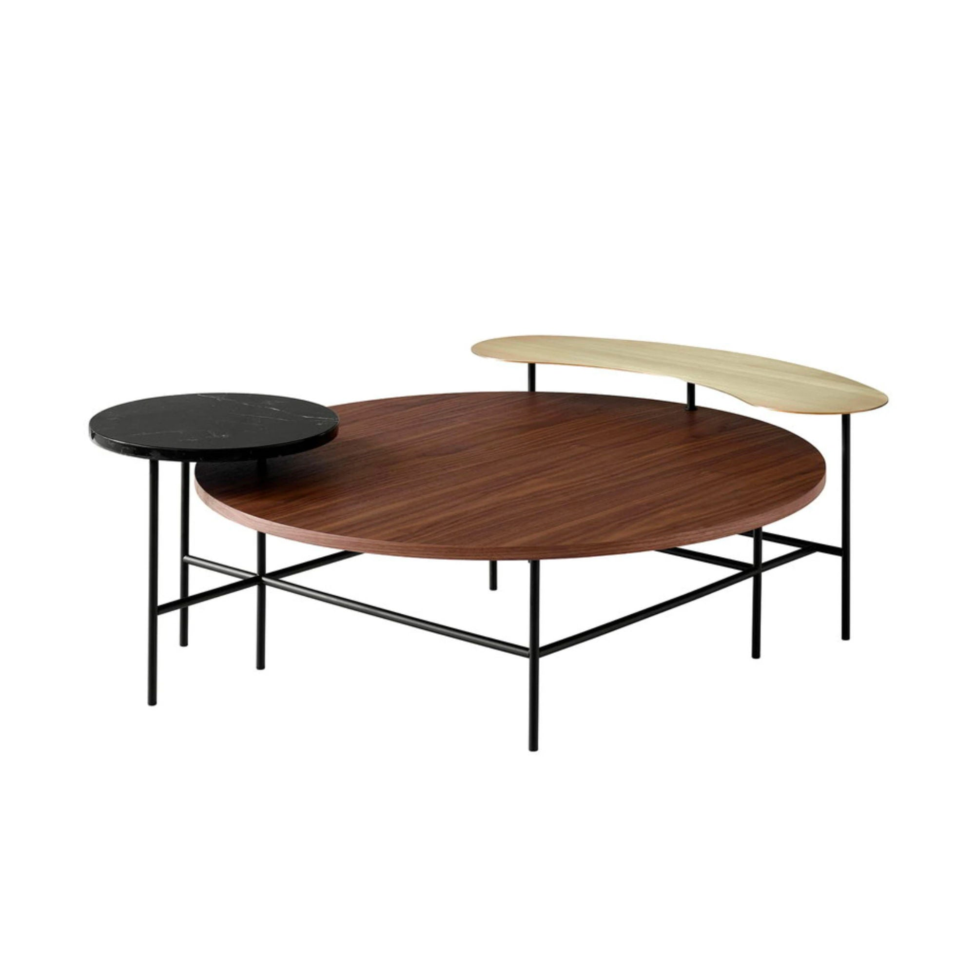 &Tradition JH25 Palette Lounge Table , Walnut