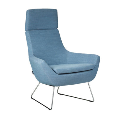 Swedese Happy easy chair high back blue