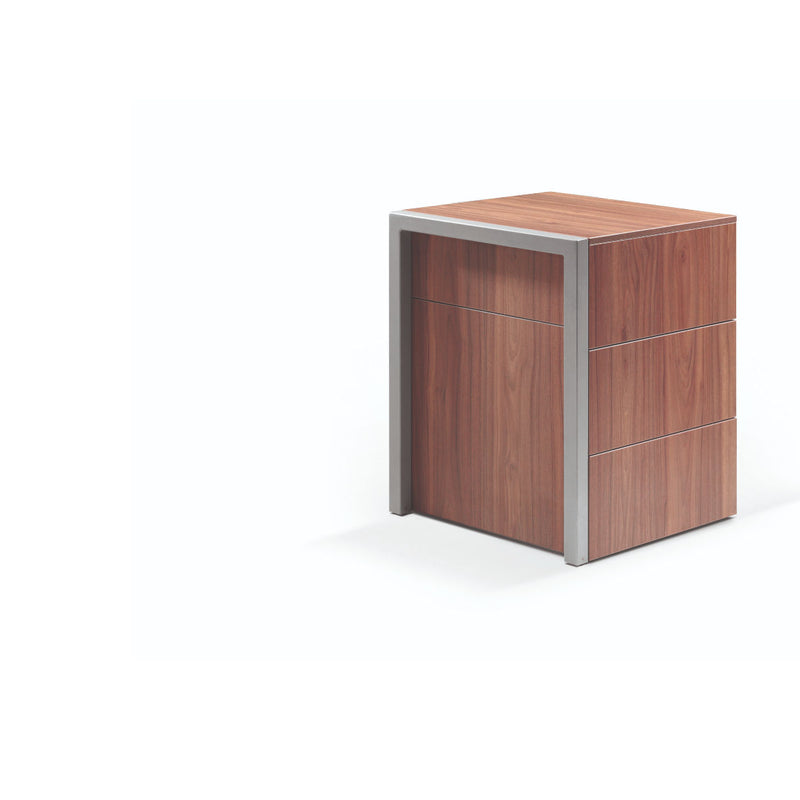 Alwin's Space Box Extendable Table Drawers , Walnut/Walnut