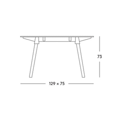 Magis Butch Table by Konstantin Grcic 129cm x 75cm