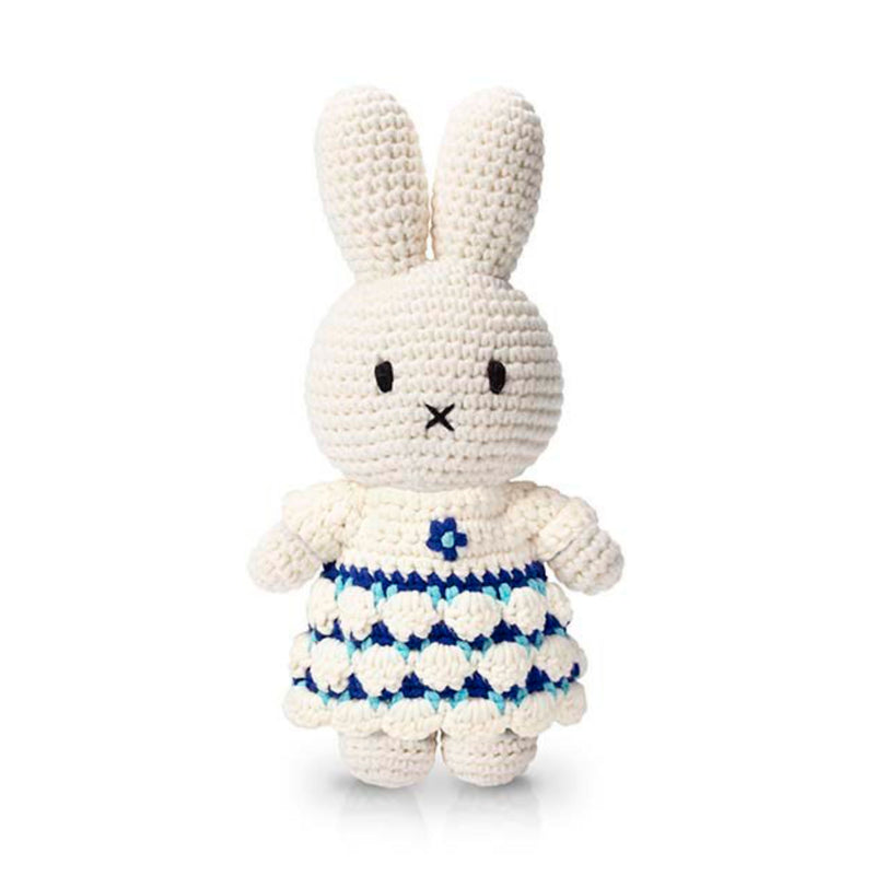 Just Dutch Handmade Dolls, Miffy and her new delft blue dress