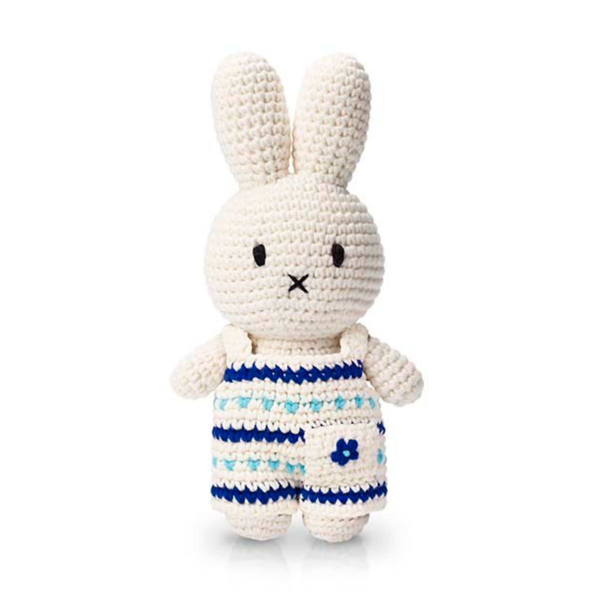 Just Dutch Handmade Dolls, Miffy and her new delft blue overall