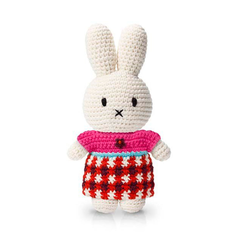 Just Dutch Handmade Dolls, Miffy and her plaid dress