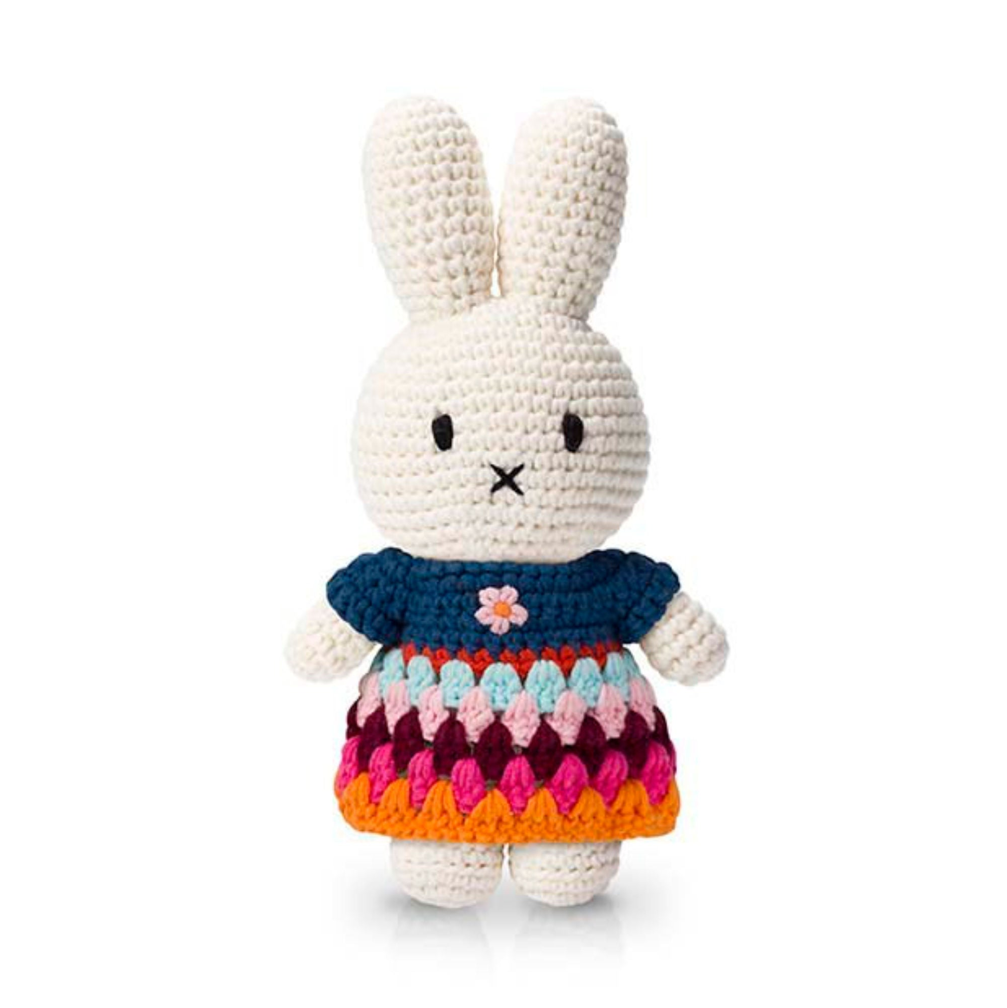 Just Dutch Handmade Dolls, Miffy and her rainbow dress
