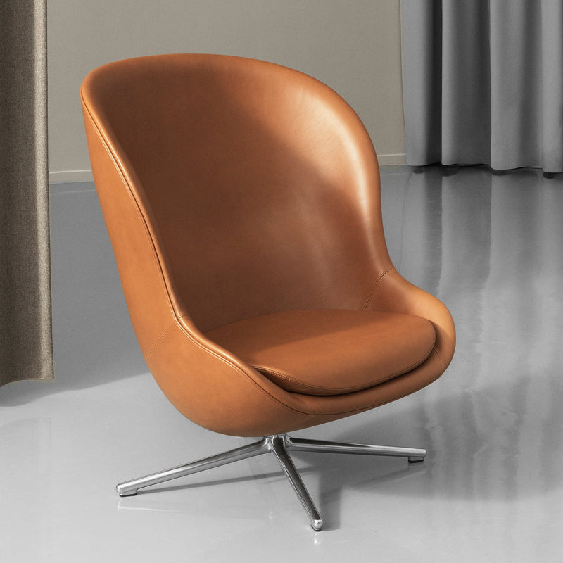Normann Copenhagen Hyg Lounge Chair High Swivel Base