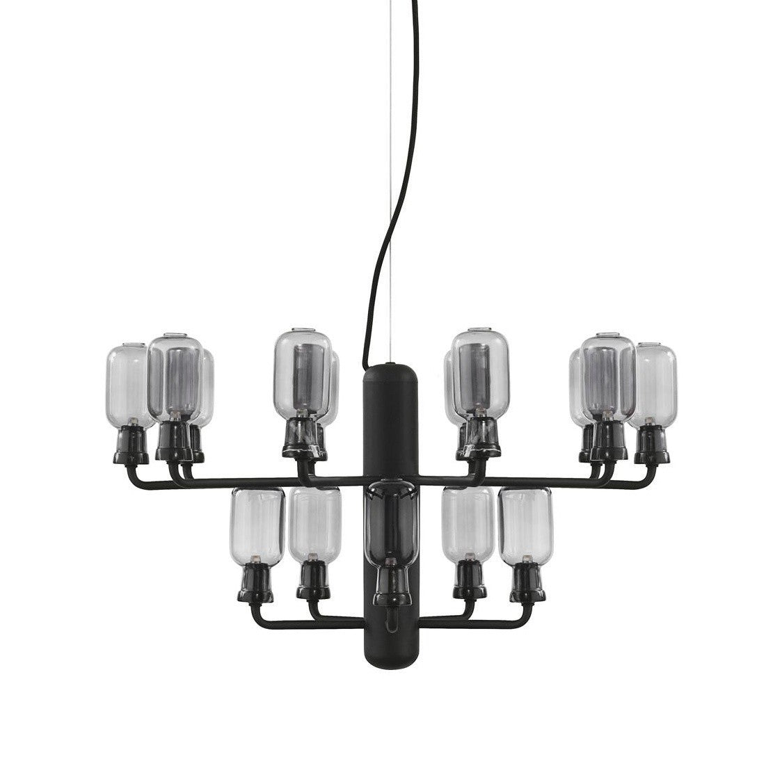 Normann Copenhagen Amp Chandelier Small Smoke Black