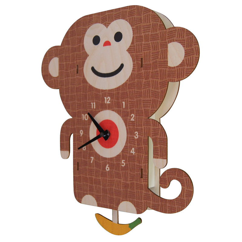 Modern Moose Pendulum Clock , Monkey