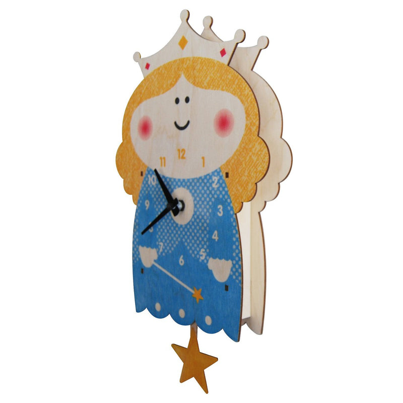 Modern Moose Princess Wooden Pendulum Clock