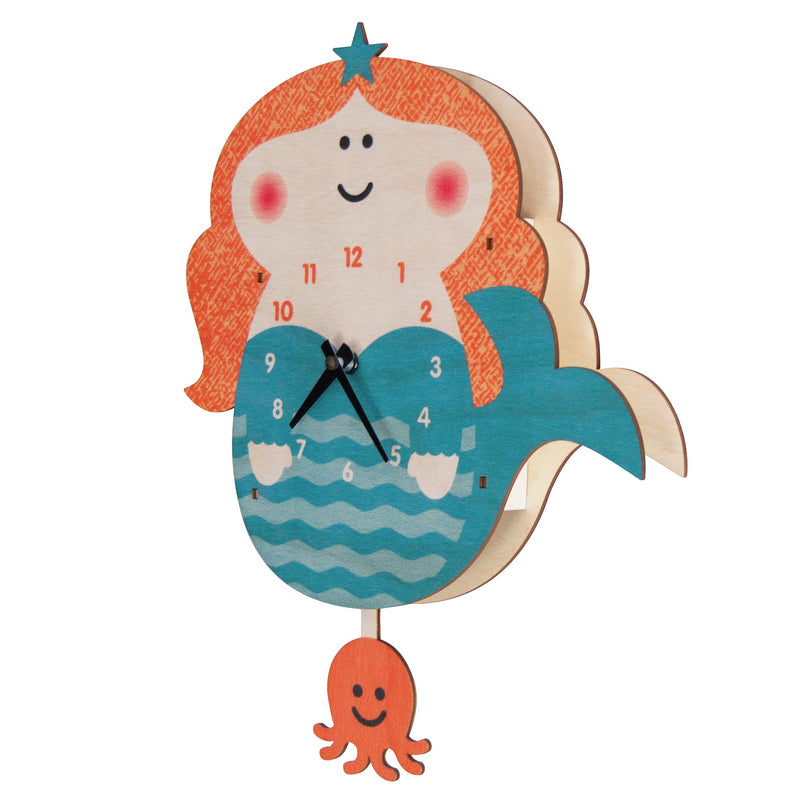 Modern Moose Pendulum Clock , Mermaid