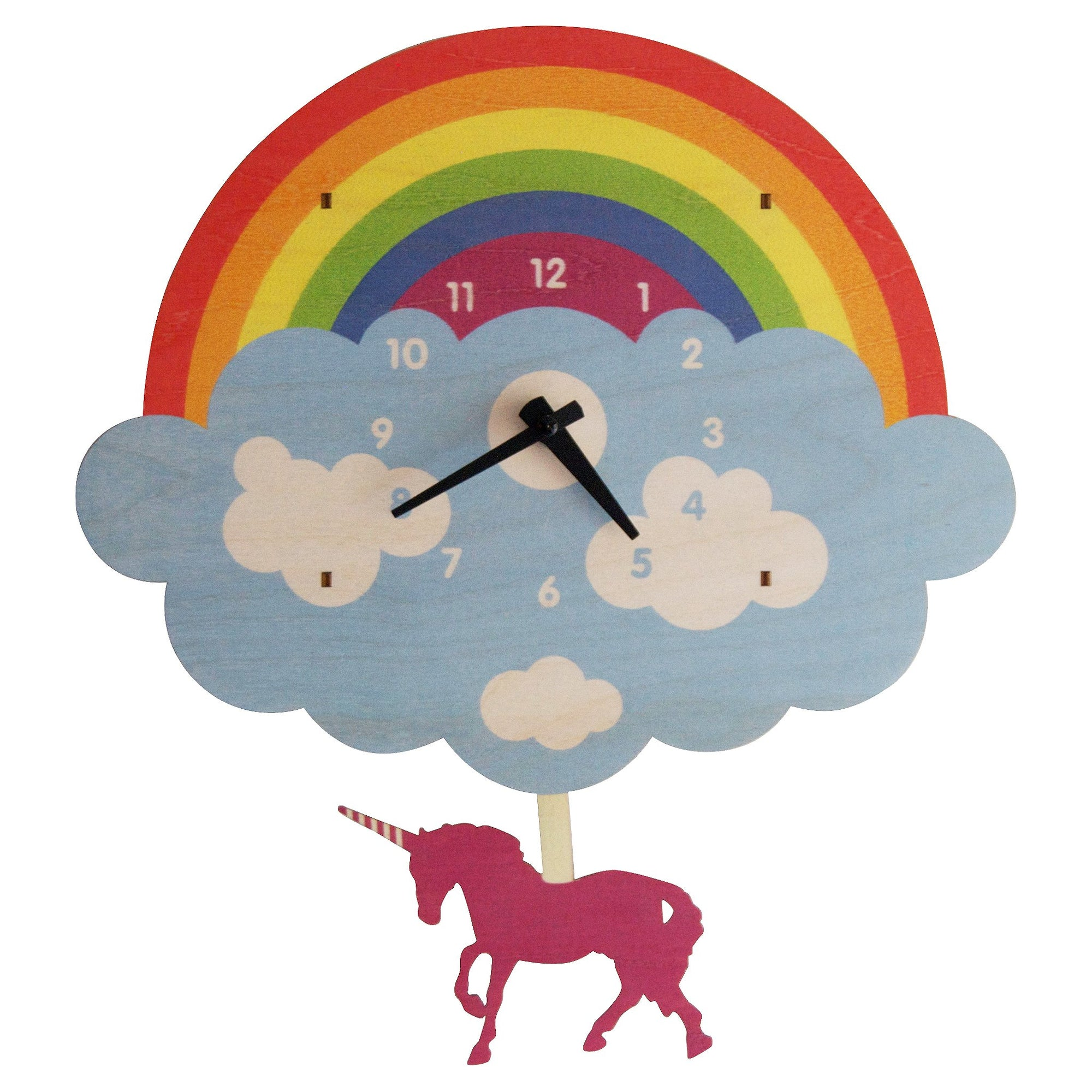 Modern Moose Pendulum Clock , Unicorn