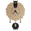 Modern Moose Sheep Wooden Pendulum Clock